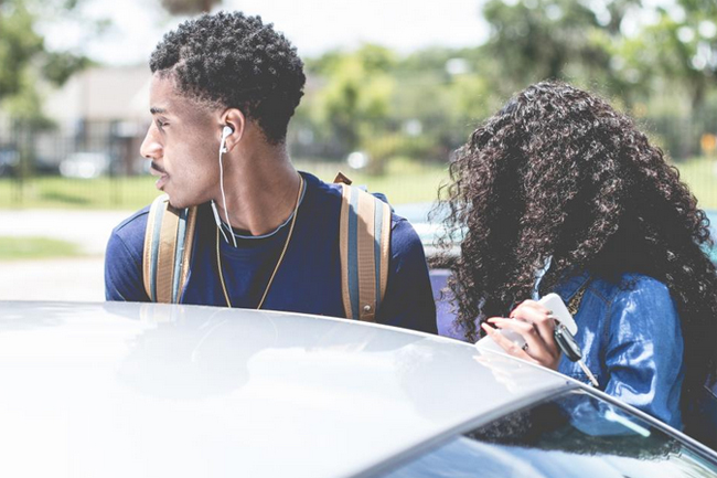 black couple on the road